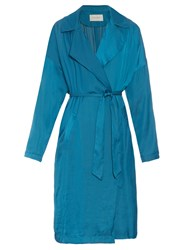 Cedric Charlier Relaxed Crinkle Effect Trench Coat