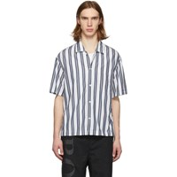 Boss Navy And White Striped Shirt