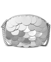 Michael Kors Sequins Ginny Medium Messenger Silver