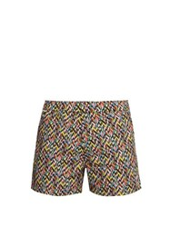 Missoni Mare Printed Cotton Swim Shorts Multi