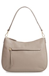 Nordstrom Finn Convertible Leather Hobo Grey Grey Taupe