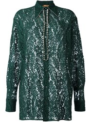 N 21 No21 Embellished Lace Shirt Green