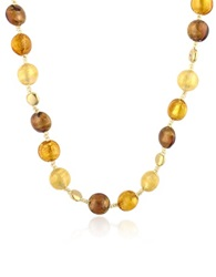 Antica Murrina Veneziana Frida Murano Glass Bead Necklace Amber