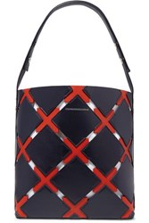 Calvin Klein 205W39nyc Cassidy Quilt Cutout Leather Tote Navy