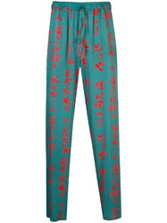 Opening Ceremony Aloha Blossom X Trousers Green