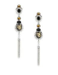 Robert Rose Stone Linear Drop Earrings