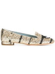 Chiara Ferragni Findmeinwonderland Slippers Metallic