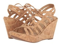 Vaneli Elvera Natural Cork Women's Wedge Shoes Neutral
