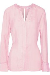 Sandro Britany Tie Back Twill Top Baby Pink