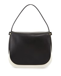 Neva Gancio Signature Hobo Bag Lait Black Salvatore Ferragamo
