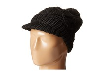 Hat Attack Knit Cap With Pom Black Caps