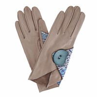 Gizelle Renee Padma Grey Leather Gloves With Bc Liberty Tana Lawn