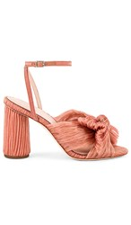 Loeffler Randall Camellia Knot Mule With Ankle Strap In Pink. Bermuda Pink