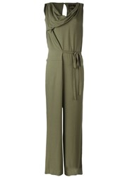 Vivienne Westwood Anglomania 'Twisted' Jumpsuit Green