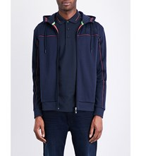 Hugo Boss Cotton Jersey Hooded Sweatshirt Navy