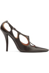 Roger Vivier Laser Cut Leather Pumps Black