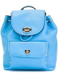 Coach Small Flap Opening Backpack Blue