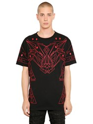 Marcelo Burlon Laborghini Printed Cotton Jersey T Shirt