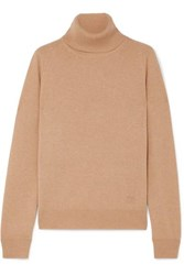 Givenchy Embroidered Cashmere Turtleneck Sweater Beige