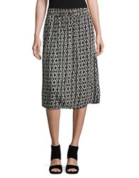 Lord And Taylor Sahara Ikat Crinkle Skirt White