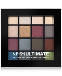 Nyx Ultimate Eye Shadow Palette Smokey And Highlight Open Misc