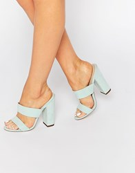 Asos Hyde Park Mules Mint Green