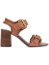 See By Chloe Romy City Whipstich Sandals Brown