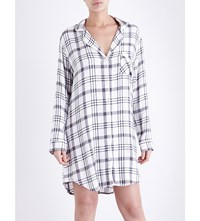 Rails Hunter Flannel Sleepshirt White Nightfall
