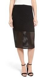 Trouve Women's Perforated Pencil Skirt