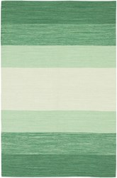 Chandra India Patterned Rectangular Contemporary Area Rug Striped 2' X 3' Green Cream