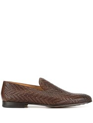 Magnanni Woven Loafers Brown