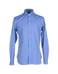 Mp Massimo Piombo Shirts Shirts Men Pastel Blue