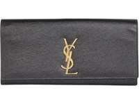 Saint Laurent Women's Monogram Long Clutch Black