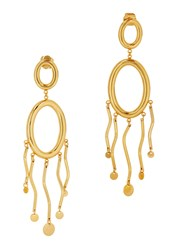 Paula Mendoza Agon Ii 24Kt Gold Plated Drop Earrings