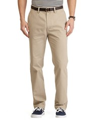 Nautica Flat Front Cotton Twill Pants True Khaki