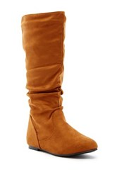 West Blvd Shoes Saigon Slouchy Mid Calf Flat Boot Brown