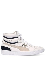 Puma Select Ralph Sampson High Og Leather Sneakers Off White