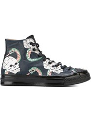 Converse 'Snake' Print Hi Top Sneakers Black