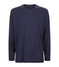 Hanro Long Sleeve Cotton Lounge Top Male Grey