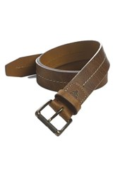 Men's Big And Tall Trask 'Dagmar' Belt Whiskey American Bison
