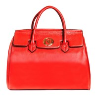 Nuciano Ophelia Handbag In Pebble Leather Red