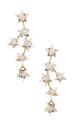 Jennifer Behr Nova Earring In Metallic Gold. Crystal Antique Gold