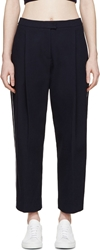 Mother Of Pearl Navy Waffle Knit Parker Trousers