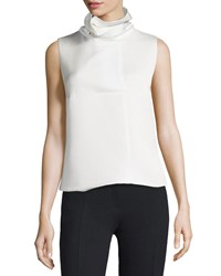 Opening Ceremony Oris Funnel Neck Sleeveless Top White