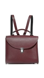 The Cambridge Satchel Company Poppy Backpack Oxblood Saffiano