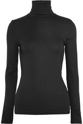 Splendid Supima Cotton And Micro Modal Blend Turtleneck Top Black