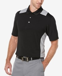 Pga Tour Big And Tall Airflux Colorblocked Performance Golf Polo Caviar