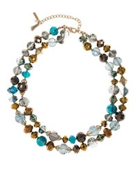 Lonna And Lilly Beaded Two Tier Bracelet Blue