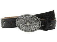 Ariat Flowers Scroll Belt Little Kids Big Kids Black Women's Belts