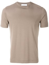 Cruciani Short Sleeved T Shirt Nude And Neutrals